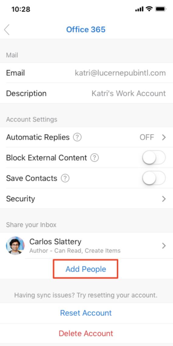 Outlook sur Mobile – Accès aux boites partagées sur mobile